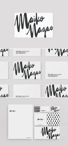 Stationary design and branding by Maiko Nagao. Graphic design for print ideas.