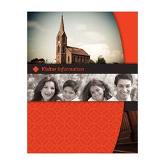 Happy Church Visitor Folder Packet & Card Template #template #church #psd #photoshop