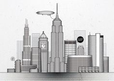 NYC in a postcard #design #travel #culture #illustration #nyc #postcard #local