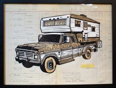 John Fellows | Society6 #truck #fellows #illustration #john #art