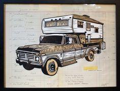 John Fellows   Society6 #truck #fellows #illustration #john #art
