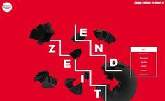 Endzeit Web #red #bold #steps #web #typography