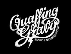 Quaffing Gravy Bottles #packaging #beer #logo