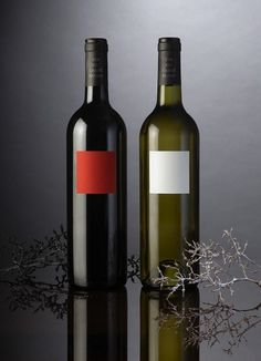 Red and White Wine | Packaging of the World: Creative Package Design Archive and Gallery #packaging #wine #simplicity #fmcg