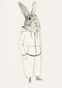 Buamai - lapin by marianne ratier on yay!everyday #illustration #rabbit