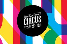 Sensational Circus Spectacular Branding, by Nathan Godding #graphic design #design #branding #creative #colorful #inspiration #circus