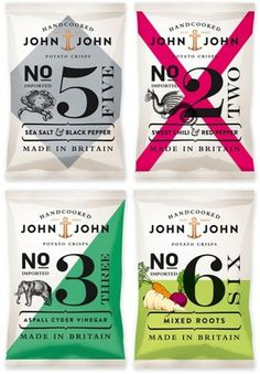 design work life » John & John Crisps Packaging #packaging #chips #food