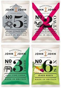 design work life » John & John Crisps Packaging #packaging #food #chips