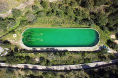 santiago morilla draws bathing man using floating pool tubes #pool