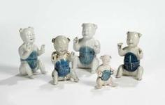 Five porcelain boy in a sitting posture #porcelain