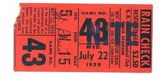 a time to get: Vintage Baseball Tickets #baseball #vintage