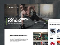 Gym Express : Free Sport Club WordPress theme