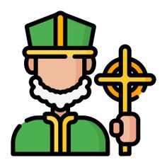 See more icon inspiration related to cultures, Saint Patrick, catholic, christian, user, avatar and man on Flaticon.