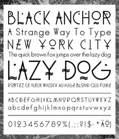 Akupoftea #black #barneau #christophe #anchor #typography