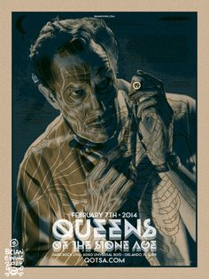 QUEENS OF THE STONE AGE 5 THE BRIANEWING.COM BODEGA #qotsa #poster