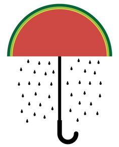 Sergi Delgado, illustration and graphic Design. Barcelona #umbrella #delgado #poem #design #graphic #simple #iconic #illustration #rain #seed #poster #sergi #watermelon
