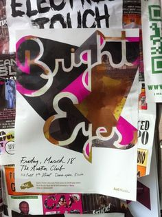 Bright Eyes SXSW - Darren Booth Hand-lettering & Illustration #illustration #design #graphic #typography