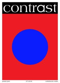 Poster Jam ◯ Contrast - cadubocai.works