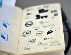 Sketches - Moleskine research - graphicwand #graphicwand #note #book #corporate #identity #moleskine #sketches #logo