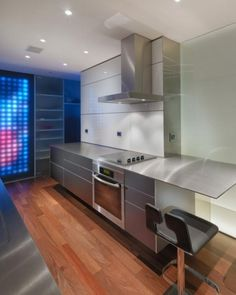 WANKEN - The Blog of Shelby White » San Francisco Carr Apartment #interior #steel #design #san #contemporary #stainless #francisco #apartment