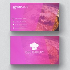 Bakery business card template Free Psd. See more inspiration related to Background, Logo, Business card, Business, Abstract, Card, Template, Office, Bakery, Visiting card, Pink, Layout, Web, Presentation, Graphic, Stationery, Corporate, Contact, Creative, Company, Modern, Branding, Information, Visit card, Clean, Cards, Print, Identity, Brand, Minimal, Simple and Name on Freepik.