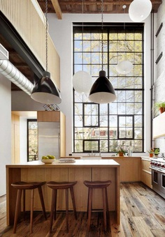 Brooklyn Family Home with a Distinct Industrial Aesthetic , kitchen
