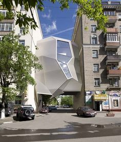 Inventive Urban Office Location: Parasite Office in Moscow | Freshome #moscow #office #architecture