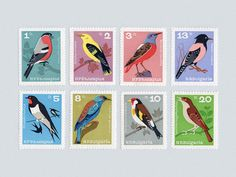 Songbird Stamp Set (1964)