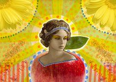 Es tu corazón | Peperina Magenta #creative #arte #amor #woman #color #digital #ilustraciã³n #vintage #ilustration #art #collage #colour #love #work