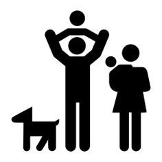 See more icon inspiration related to dog, family, familiar, group, two, people and babies on Flaticon.