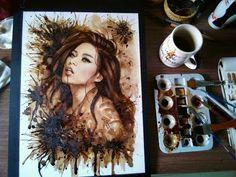 Coffee Paintings .. #coffee #portrait #art #painting