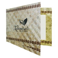 Hawaiian Golf Photo Folder (Front Open View) #photo #hawaii #holder #folder #wicker