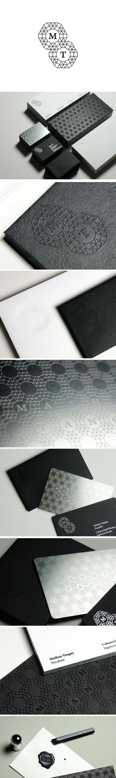 Stationery Design for Mathias Tanguy via Branding Served. #metal #etch