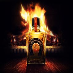 Tequila Herradura on Behance #bottle #advertising #photoshop #fire #tequila