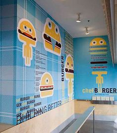 chefBURGER - design - work - tad carpenter #illustration #identity #branding