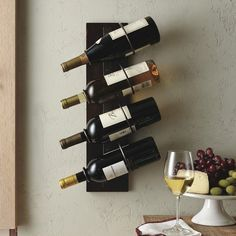 4-Bottle Wall Mount Wine Holder #tech #flow #gadget #gift #ideas #cool