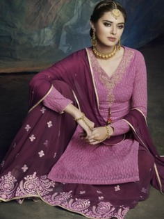 Rani Embroidered Palazzo Suit - Inddus.