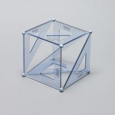Designersgotoheaven.com  Set Square Cubed by Daniel Eatock. #sculpture #geometry #putty #stools #triangles
