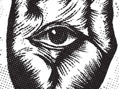 Dribbble - Were Watching You. by Super Top Secret #eye #seeing #hand #illuminati