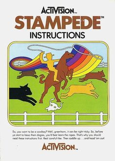 Atari - Stampede | Flickr - Photo Sharing! #video #booklet #games #manual