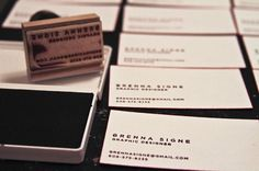 Business Cards - Brenna Signe #business #design #graphic #identity #cards