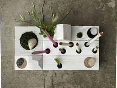 Desk Organizer, Zen Garden, White by Karolin Felix Dream contemporary desk accessories
