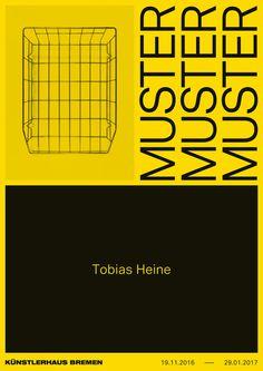 """kroenker: """"Tobias Heine – Muster Exhibition poster """""""