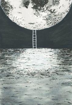 moon.jpg 414×600 pixels #moon #ladder