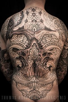 Thomas Hooper Tattooing Skull and Ornament Back Piece _5