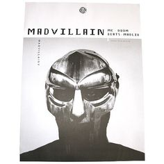 Madvillain | Madvillainy Poster XL | Stones Throw Records #doom #throw #stones #mf #madvillain #madlib