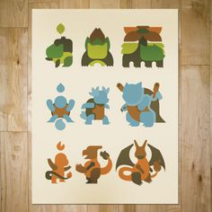art prints : bandito design co. #print #screen #illustration #poster #pokemon