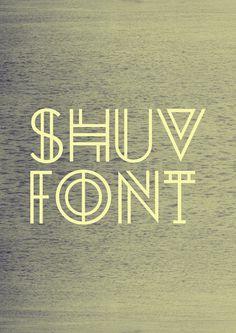 SHUV FONT on Behance