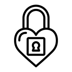 See more icon inspiration related to lock, love and romance, valentines day, loving, lover, heart lock, like, heart, peace, interface and shapes on Flaticon.
