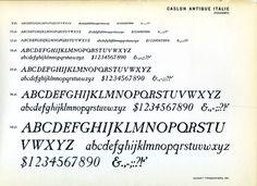 Caslon Antique type specimen #type #specimen #typography